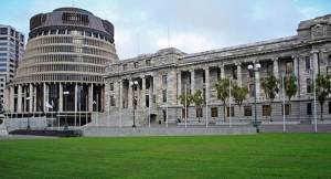 The 'Beehive and Parliament buildings, New Zealand' by Nicolette Gregory. See https://www.flickr.com/photos/artistiquephotography/5362940630#
